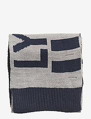 Lyle & Scott Junior - Neutral Stripe Scarf - huivit - vintage grey heather - 1