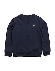 Plain Crew Neck Fleece - DEEP INDIGO