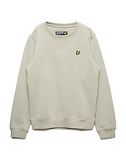 Plain Crew Neck Fleece - GREEN STONE