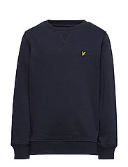 Plain Crew Neck Fleece - NAVY BLAZER