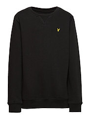 Plain Crew Neck Fleece - TRUE BLACK