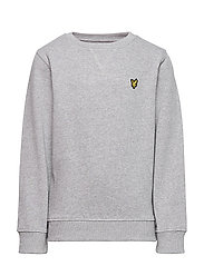 Plain Crew Neck Fleece - VINTAGE GREY HEATHER