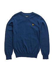 Lyle & Scott Classic V-Neck Jumper - TRUE BLUE