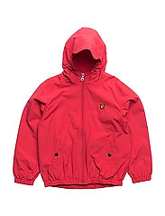Lyle & Scott Windcheater Zip Through Hoodie Jacket - ROYAL RED