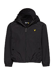 Lyle & Scott Windcheater Zip Through Hoodie Jacket - TRUE BLACK