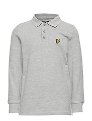 Classic  L/S Polo - VINTAGE GREY HEATHER