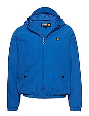 Zip Through Hooded Jacket - LAKE BLUE