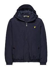 Zip Through Hooded Jacket - NAVY BLAZER