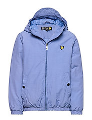 Zip Through Hooded Jacket - SKY BLUE
