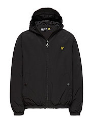 Zip Through Hooded Jacket - TRUE BLACK