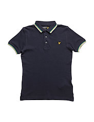 Plain Tipped Polo - DEEP INDIGO