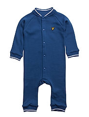 Romper With Tipped Rib - TRUE BLUE