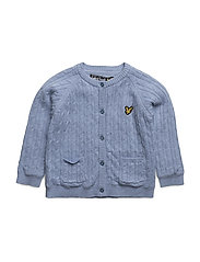 Knitted Jacket - BLUE MARL