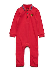 Polo Romper - ROYAL RED