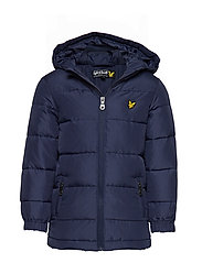 Down Blend Puffa Coat - NAVY BLAZER