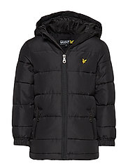 Down Blend Puffa Coat - TRUE BLACK