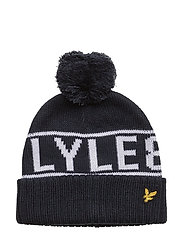 Lyle and Scott Jacquard Beanie - DEEP INDIGO