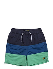 Lyle & Scott Cut And Sew Swim Short - GREEN SHEEN