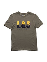 T-Shirt With Chest Application Ss - OLIVE TREE