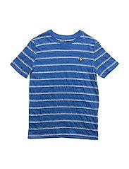 Birdseye Stripe T-shirt - LAKE BLUE