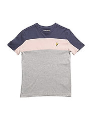 Colour Block T-shirt - VINTAGE GREY HEATHER