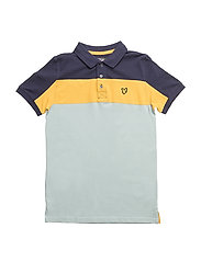 Cut and Sew Polo - POWDER BLUE