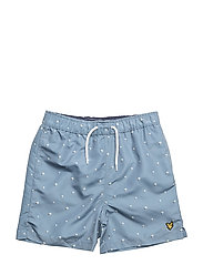 Beachball Print Swimshort - MIST BLUE