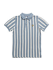 Deckchair Stripe Polo - MIST BLUE