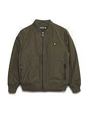 Nylon Lightly Wadded Bomber - OLIVE