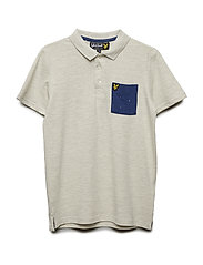 Micro Print Pocket Polo - SEASHELL WHITE MARL