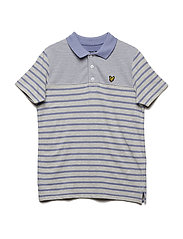 Breton Polo Shirt - SEASHELL WHITE MARL