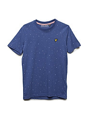 Micro print T-shirt - TWILIGHT BLUE