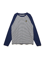 LS Baseball Breton T-shirt - TWILIGHT BLUE