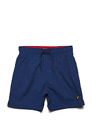 Micro Print Swim Short - TWILIGHT BLUE