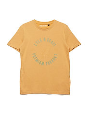 Circle Placement Print T-Shirt - HONEY