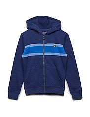 Engineered Zip Through Hoody - TWILIGHT BLUE