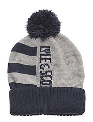 Neutral Stripe Beanie - VINTAGE GREY HEATHER