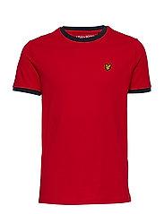 Ringer T-Shirt - DARK RED