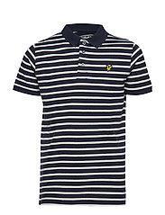 Variegated Stripe Polo - NAVY BLAZER