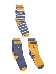 Design & Solid 3 Pair Socks - HONEY