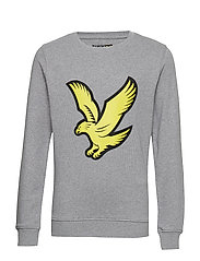 Logo Crew LB - VINTAGE GREY HEATHER