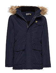 Micro Fleece Parka Jacket - NAVY BLAZER