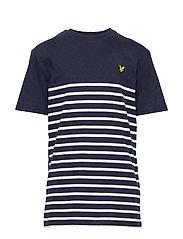 S/S Breton Block Stripe T-Shirt - NAVY BLAZER