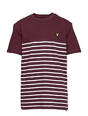 S/S Breton Block Stripe T-Shirt - WINETASTING