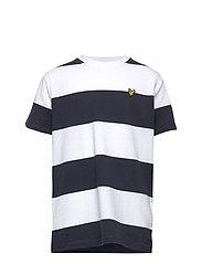 Wide Stripe T-Shirt Bright White - BRIGHT WHITE