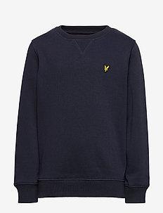 Plain Crew Neck Fleece - sweatshirts - navy blazer