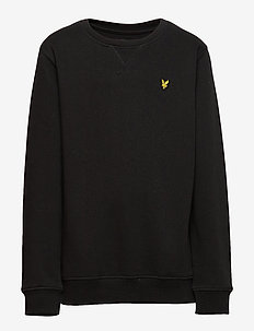 Plain Crew Neck Fleece - sweatshirts - true black