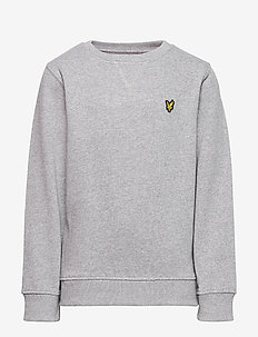 Plain Crew Neck Fleece - sweatshirts - vintage grey heather