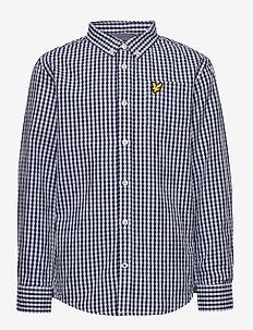 Lyle & Scott Gingham Check Shirt - shirts - navy blazer
