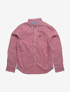Lyle & Scott Gingham Check Shirt - skjortor - royal red